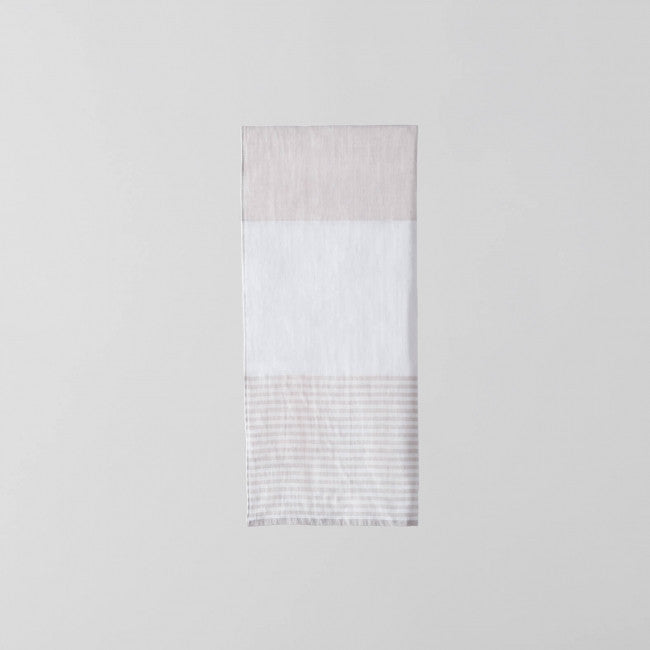 Tri Color Chambray Towel Pink