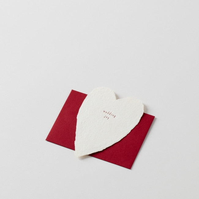 wedding joy: Handmade Paper Note with Red Envelope