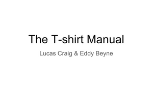 The T-Shirt Manual
