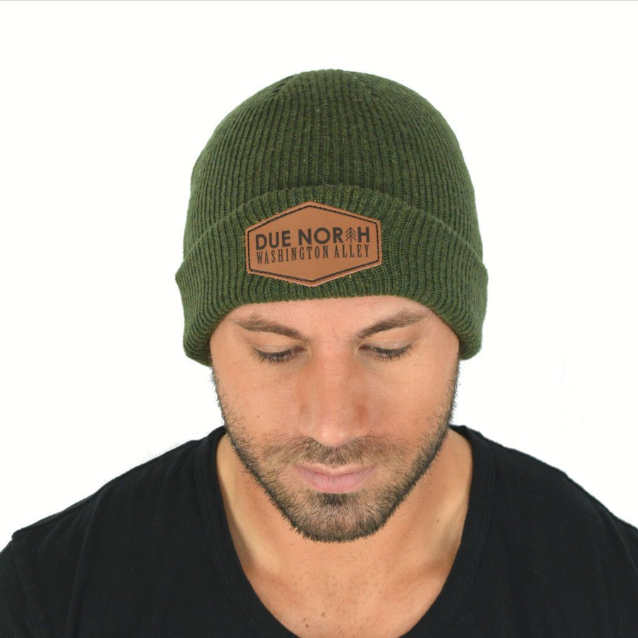 DUE NORTH BEANIE - OLIVE GREEN - Washington Alley