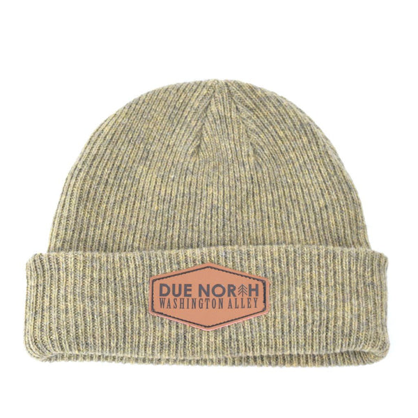 DUE NORTH BEANIE - LIGHT OLIVE - Washington Alley