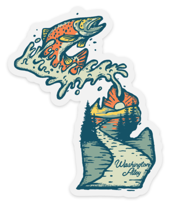 MICHIGAN TROUT STICKER - Washington Alley