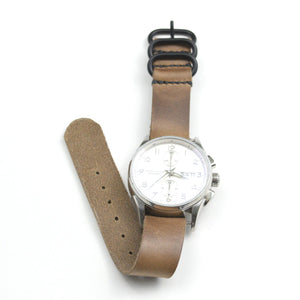 LEATHER WATCH STRAP - HORWEEN CHROMEXCEL - Washington Alley