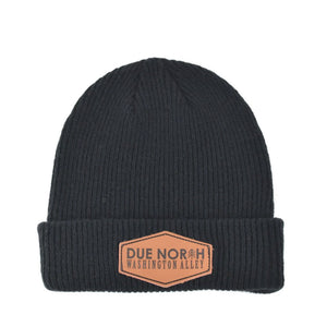 DUE NORTH BEANIE - BLACK - Washington Alley