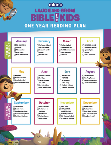 Minno Laugh and Grow Bible - One Year Reading Plan