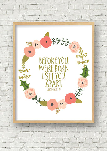 Before You Were Born Printable Art