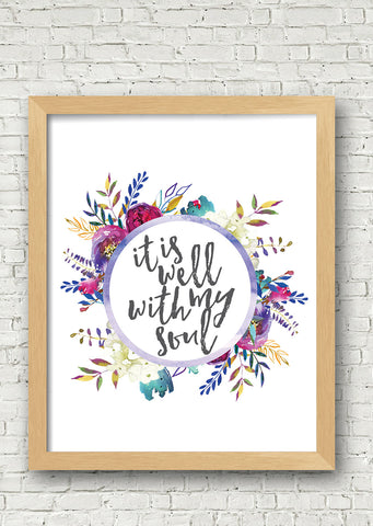 It Is Well Printable Art