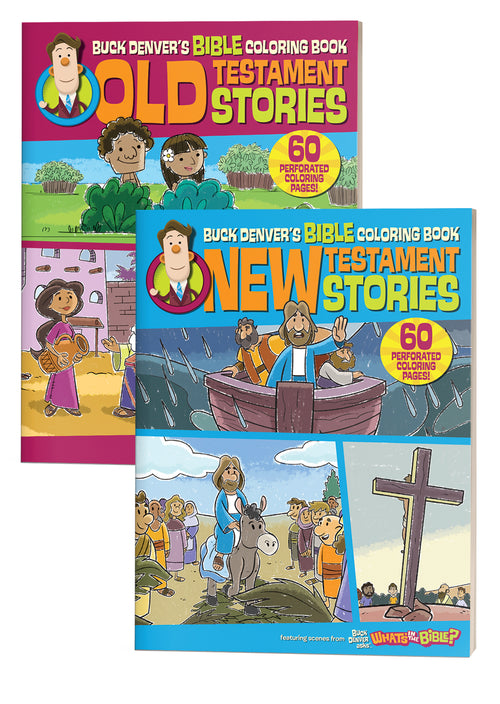 - Buck Denver's Bible Coloring Book Old & New Testament Stories – Minno