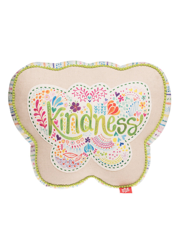 Kindness Butterfly Affirmation Pillow
