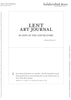 Printable Lent Art Journal