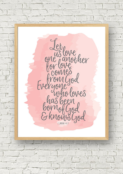 Let Us Love One Another Printable Art