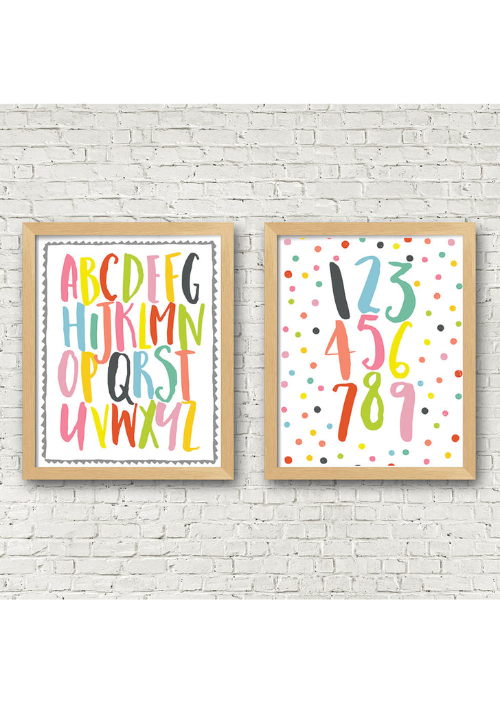 Alphabet and Numbers Printable Art