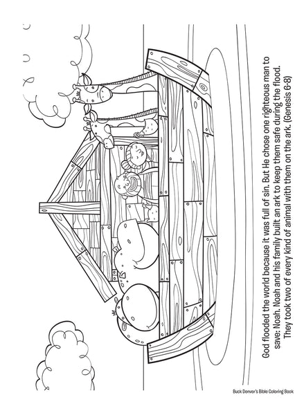Buck Denver S Bible Coloring Book Old Amp New Testament