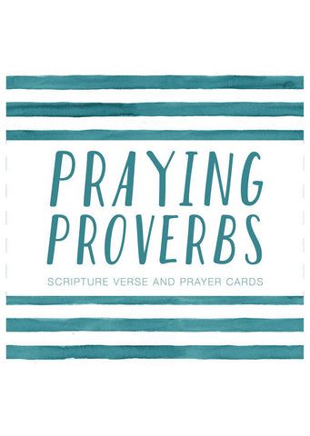 Praying Proverbs Scripture and Prayer Cards