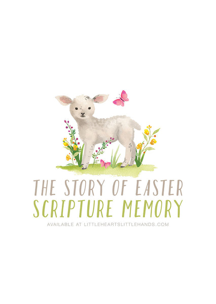 The Story of Easter - Kids Scripture Memory Cards