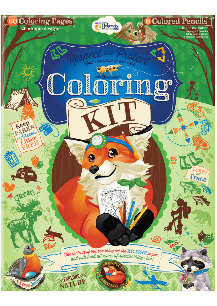 Woodland Coloring Kit