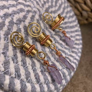 Lavender Charm with Coil Loc Jewelry
