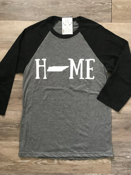 Home State V-Neck Tees Grey - Ready To Ship