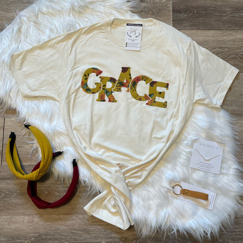 Grace Floral Cream Tee