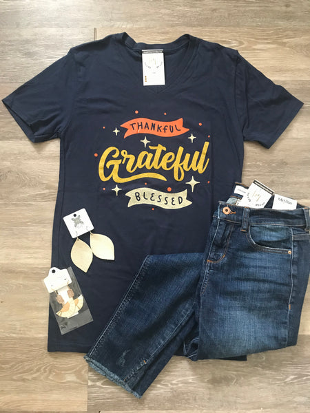 Thankful Grateful Blessed Tee