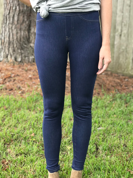 High Waist Stretch Jeggings - Medium Denim
