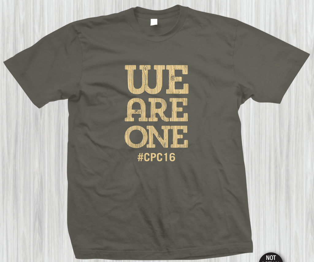 We Are One Wood Grain T-shirt (#CPC16)
