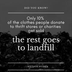 Most fast fashion goes to landfill