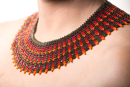 Hand Beaded Statement Necklace