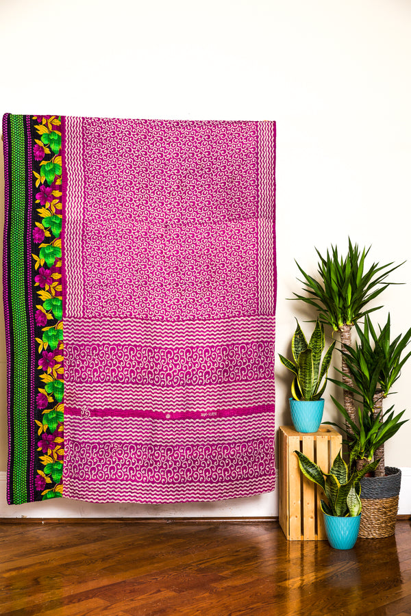 Up-cycled Sari Throws