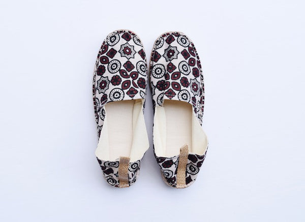 Ajrak Blockprinted heal espadrille