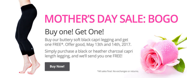 Mother's Day Sale 2017. BOGO. Buy One Capris Legging & Get One FREE!