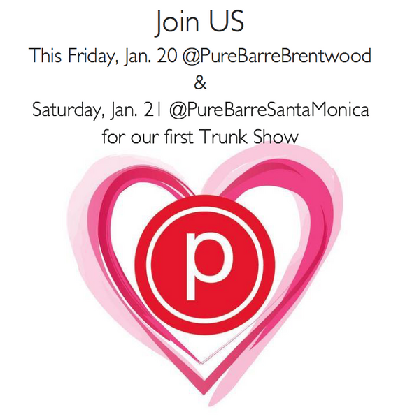 Join US. For Our First Trunk Shows with Pure Barre