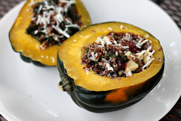 Red Quinoa Stuffed Acorn Squash Recipe