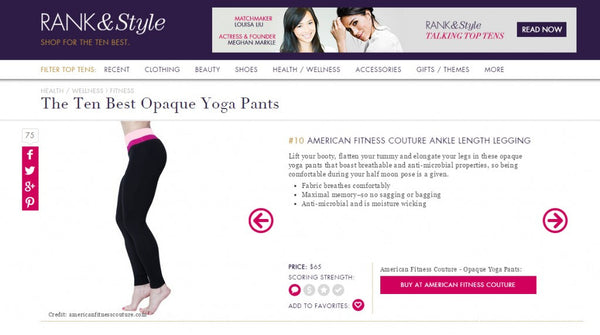 RANK & STYLE: THE TEN BEST OPAQUE YOGA PANTS