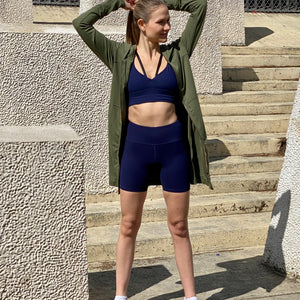 Black-Mesh-Bomber Jacket