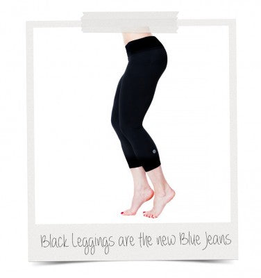 Black, Buttery Soft, Peached Nylon, Capri Leggings, American Fitness Couture