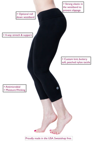 3 TOP TIPS TO MINIMIZE A MUFFIN TOP LOOK WHEN WORKING OUT-Black-Capri-Leggings-American-Fitness-Couture