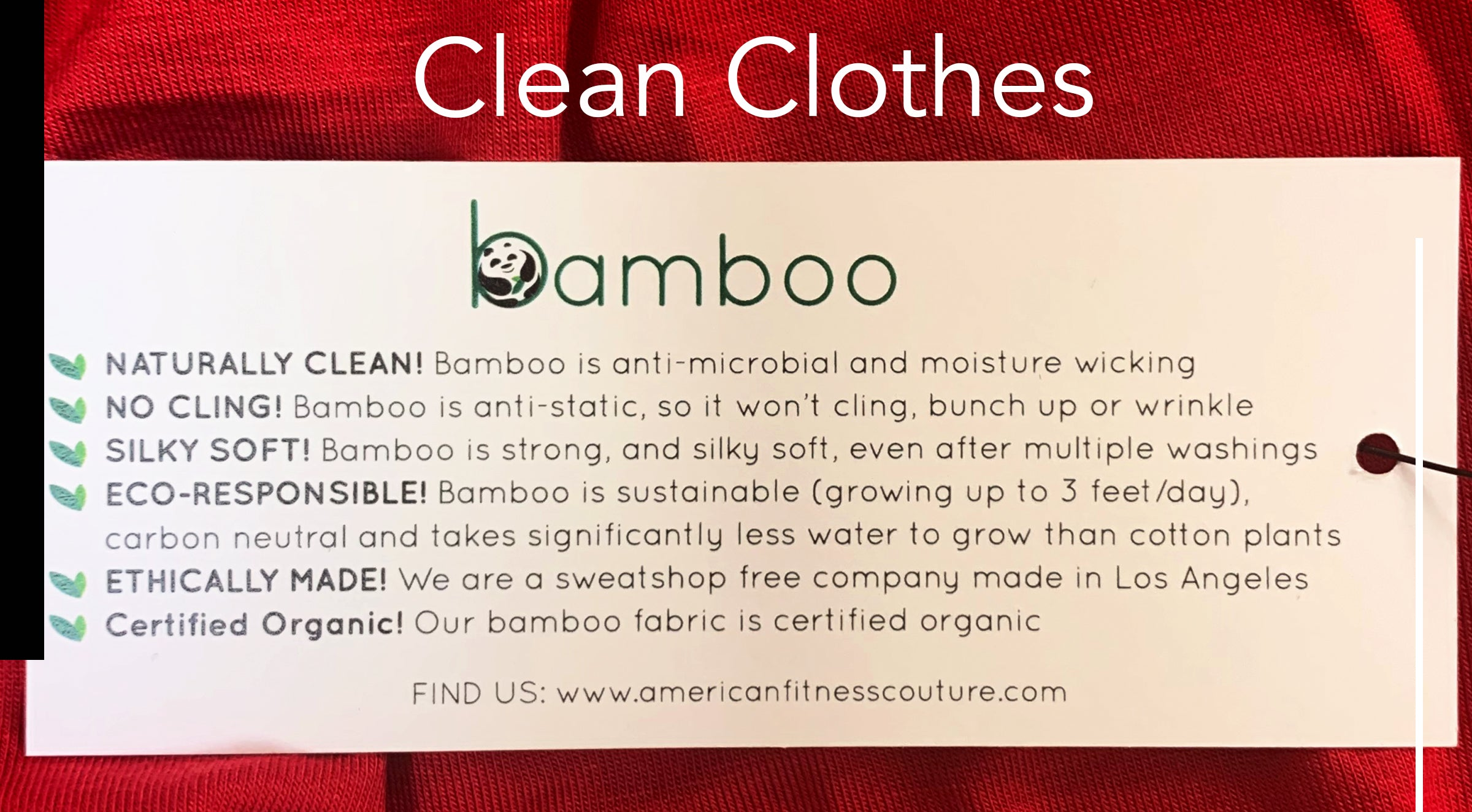 Clean Clothes | Organic Bamboo Fabric