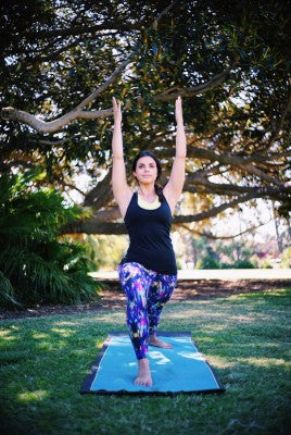 HOW TO CREATE YOUR OWN YOGA-INSPIRED WARM-UP-Jessica Matthews-American-Fitness-Couture-Printed Capri Leggings