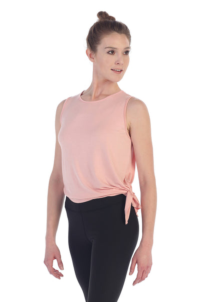 Side Tie Studio Tank-Mauve-American Fitness Couture