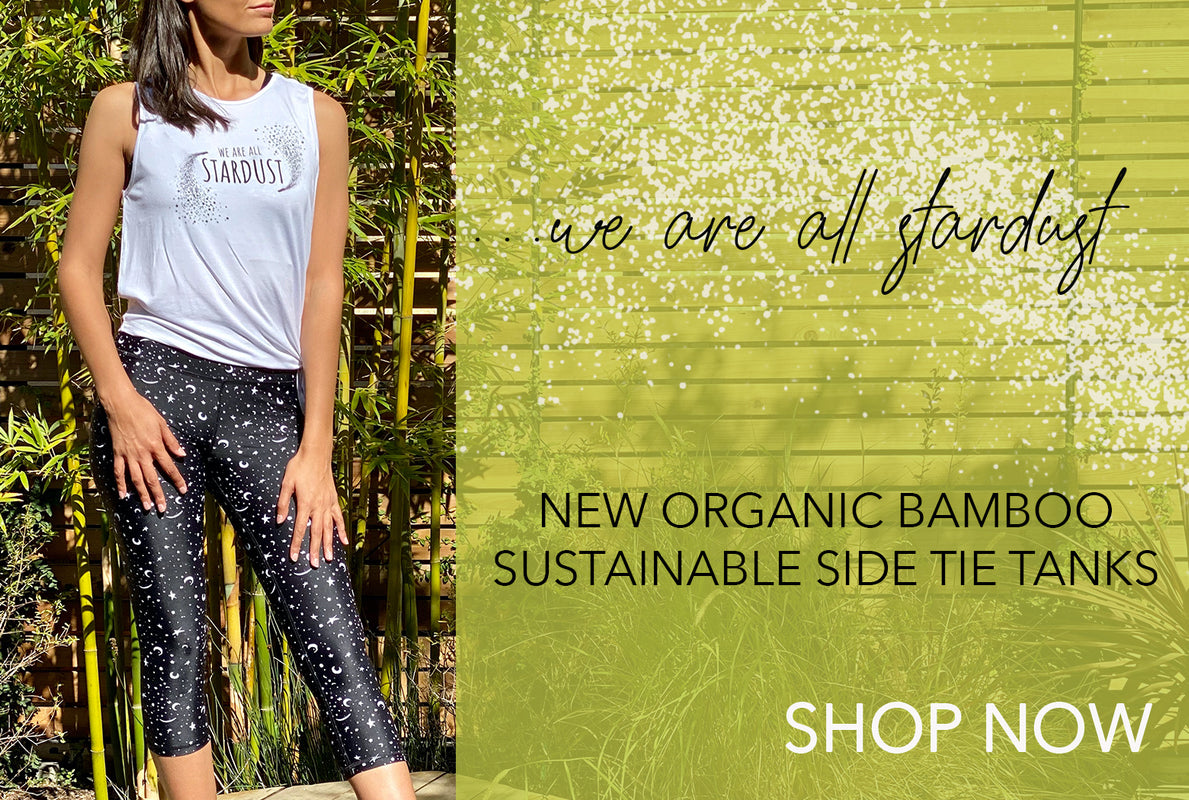 Organic Bamboo Tee-High Waist Print 3-4 Length Leggings-American-Fitness-Couture