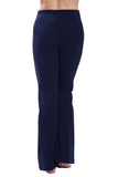 Navy-Bootleg Yoga Pants-back image