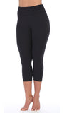 Black-3-4-Length-High Waist-Leggings