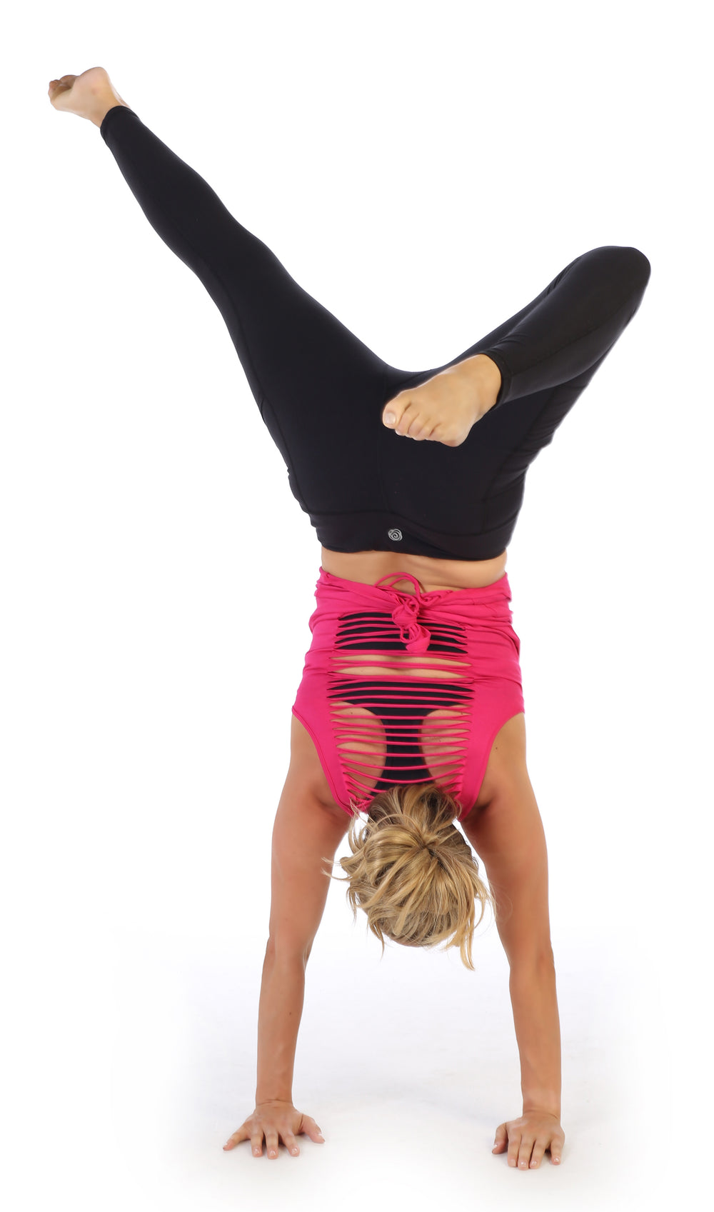 Fuchsia-Get Shredded Workout Tank Top-handstand