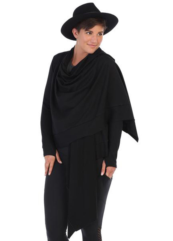 Women's Black Vinyasa Wrap Shawl