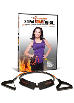 Core Transformer-Fat BURN Pilates & Barre Fusion-Workout Video & Exercise Resistance Tube Kit
