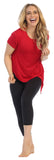 Red-Organic Bamboo-Side Tie Studio Tee-lifestyle image