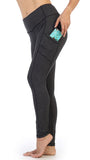 Heather Dark Gray-Side Pocket Ankle Length Legging-side view