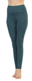Spacedye Heather Teal High Waist Full Length Pocket Leggings