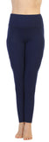 Navy-High Waist-Pocket Compression Full Length Leggings